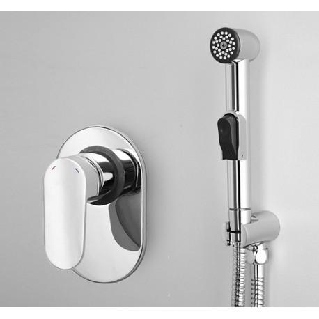 Комплект гигиенический душ со смесителем Wasser KRAFT Donau 5351+a043+a022+a010