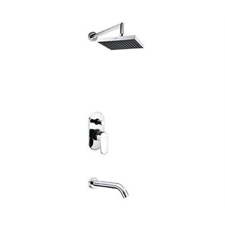 Встраиваемый комплект для ванны с изливом и верхней душевой насадкой WasserKraft А13028