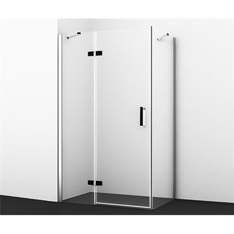 Душевой уголок WasserKRAFT Aller BLACK 10H06LB 120х80х200 см, с распашными дверьми (петли слева)