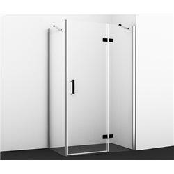 Душевой уголок WasserKRAFT Aller BLACK 10H07RB 120х90х200 см, с распашными дверьми (петли справа)