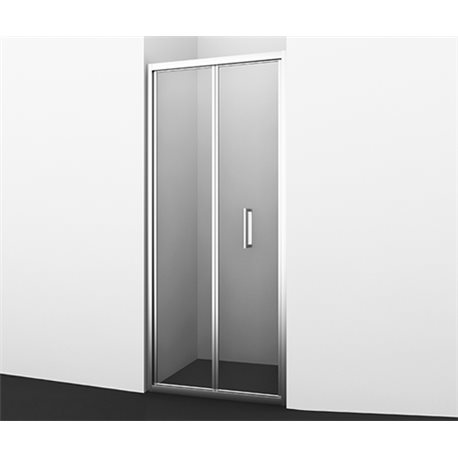 Душевая дверь WasserKRAFT Weser 78F04, 90 см складная