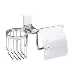 Держатель туалетной бумаги и освежителя WasserKRAFT Leine K-5059WHEITE