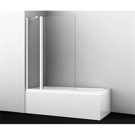 Шторка на ванну WasserKRAFT Berkel 48P02-110 WHITE Fixed ширина 110 см с фиксатором