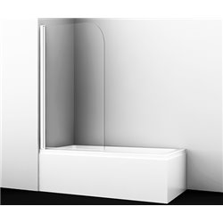 Шторка на ванну WasserKRAFT Leine 35P01-80 WHITE ширина 80 см