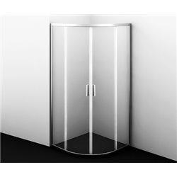 Душевой уголок WasserKRAFT Lippe 45S00 80x80x185 см, с раздвижными дверьми