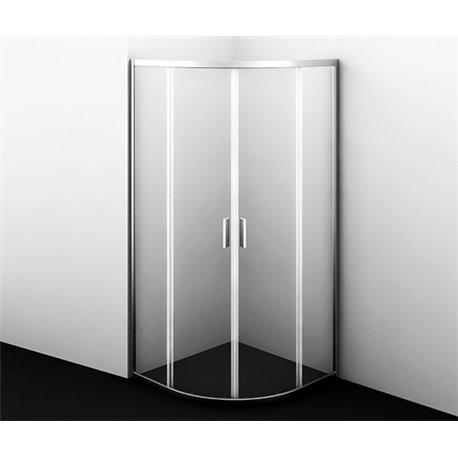 Душевой уголок WasserKRAFT Lippe 45S00 90x90x185 см, с распашными дверьми