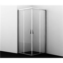 Душевой уголок квадратный WasserKRAFT Lippe 45S03 90x90x185 см, с раздвижными дверьми