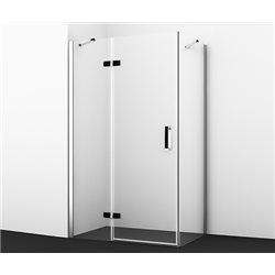 Душевой уголок WasserKRAFT Aller Black Matt 10H06L BLACK MATT 120x80x200 см, с распашными дверьми (петли слева)