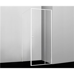 Душевой уголок квадратный WasserKRAFT Rhin 44S19 100x100x200 см, раздвижная дверь, белый профиль