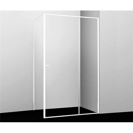 Душевой уголок квадратный WasserKRAFT Rhin 44S22 100x90x200 см, раздвижная дверь, белый профиль