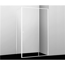 Душевой уголок прямоугольный WasserKRAFT Rhin 44S10 120x100x200 см, раздвижная дверь, белый профиль