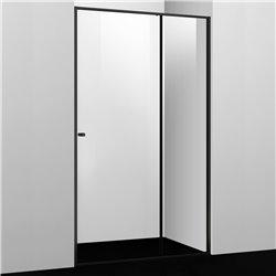 Душевая дверь WasserKRAFT Dill 61S13 110 см, раздвижная, профиль черный