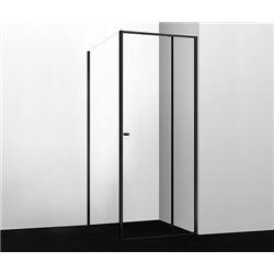 Душевой уголок прямоугольный WasserKRAFT Dill 61S19 100x100x200 см, раздвижная дверь, черный профиль
