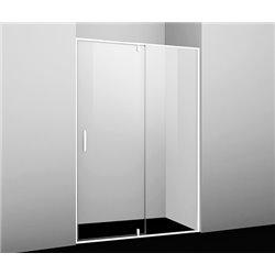 Душевая дверь 120 см WasserKRAFT Neime 19P05, распашная, профиль белый