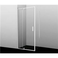 Душевой уголок прямоугольный WasserKRAFT Neime 19P18 90x100x200 см, распашная дверь, белый профиль