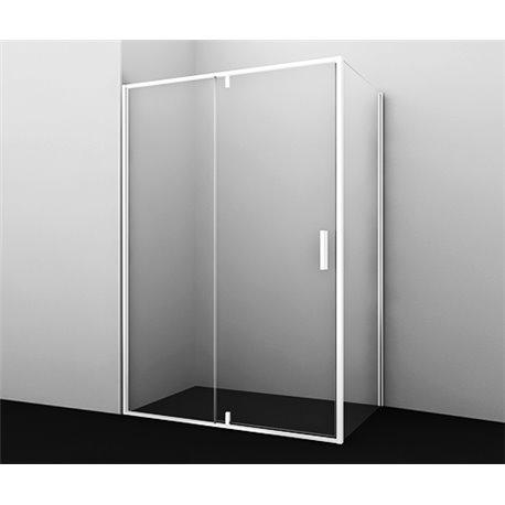 Душевой уголок прямоугольный WasserKRAFT Neime 19P10 120x100x200 см, распашная дверь, белый профиль