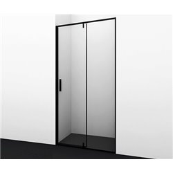 Душевая дверь 90 см WasserKRAFT Elbe 74P04, распашная, профиль черный