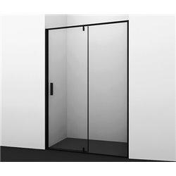 Душевая дверь 120 см WasserKRAFT Elbe 74P05, распашная, профиль черный