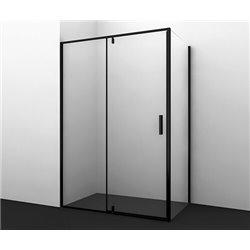Душевой уголок прямоугольный WasserKRAFT Elbe 74P10 120x100x200 см, распашная дверь, черный профиль