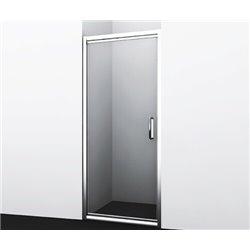Душевая дверь 90 см WasserKRAFT Salm 27I04, распашная, профиль хром