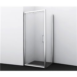 Душевой уголок квадратный WasserKRAFT Salm 27I03 90x90x200 см, распашная дверь, профиль хром