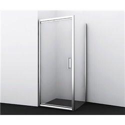 Душевой уголок прямоугольный WasserKRAFT Salm 27I28 80x90x200 см, распашная дверь, профиль хром