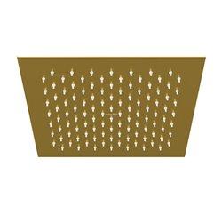 Верхний душ WasserKRAFT A198 квадратный 250х250 мм, цвет матовое золото