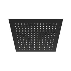 Верхний душ WasserKRAFT A162 квадратный 300х300 мм, черный матовый
