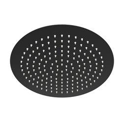 Верхний душ WasserKRAFT A160 круглый 300 мм, цвет черный матовый