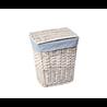 Плетеная корзина для белья с крышкой WasserKraft Lippe WB-450-M 43x30x50 см
