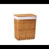 Плетеная корзина для белья с крышкой WasserKraft Ammer WB-370-L размер 46x33x54 см