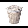 Плетеная корзина для белья с крышкой WasserKraft Vils WB-560-M 32x32x45 см