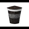 Плетеная корзина для белья с крышкой WasserKraft Salm WB-270-M 33x33x51 см