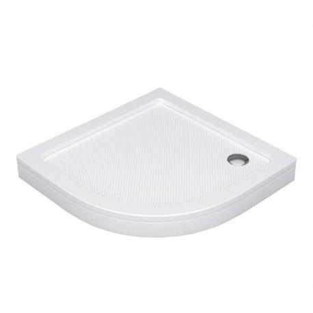 Душевой поддон WasserKRAFT Isen 26T00, полукруглый 80x80x17,5 см, акриловый