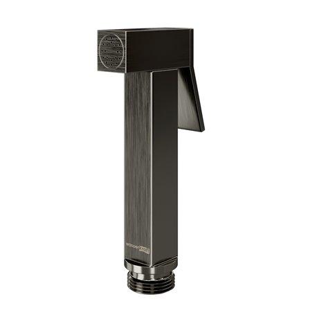 Гигиеническая лейка WasserKRAFT A215 квадратная, оружейная сталь