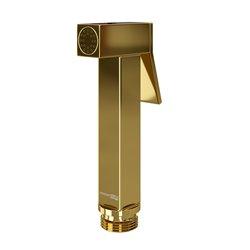 Гигиеническая лейка WasserKRAFT A216 квадратная, глянцевое золото