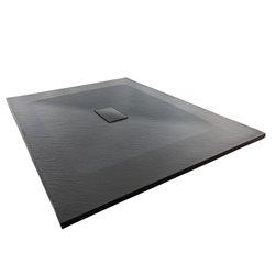 Душевой поддон WasserKRAFT Elbe 74T10, прямоугольный 120x100x2,6 см, черный
