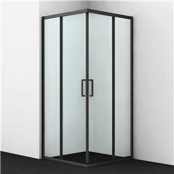 Душевой уголок квадратный WasserKRAFT Dill 61S03 90x90x200 см, раздвижная дверь, черный профиль