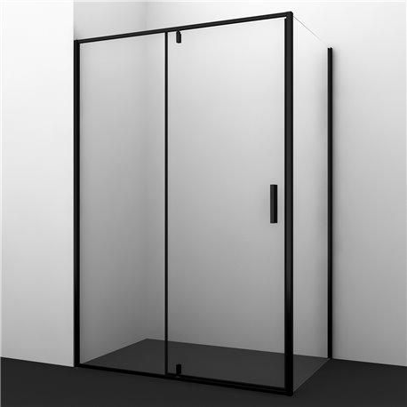 Душевой уголок WasserKRAFT Elbe 74P06 120x80x200 см, распашная дверь, черный профиль