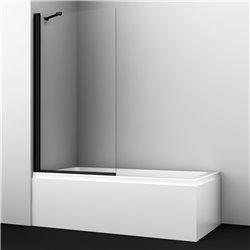 Шторка на ванну WasserKRAFT Berkel 48P01-80 BLACK Fixed ширина 80 см