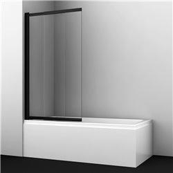 Шторка на ванну WasserKRAFT Dill 61S02-80 ширина 80 см, черный профиль