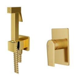Встраиваемый комплект для биде WasserKraft Aisch А55094 со шлангом 150 см, матовое золото