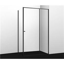 Душевой уголок прямоугольный WasserKRAFT Dill 61S17 100x80x200 см, раздвижная дверь, черный профиль