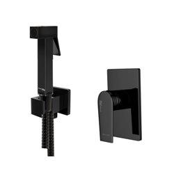 Встраиваемый комплект для биде WasserKraft Glan А66096 со шлангом 150 см, черный глянец