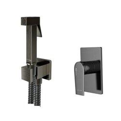Встраиваемый комплект для биде WasserKraft Wiese А84095 со шлангом 150 см, оружейная сталь