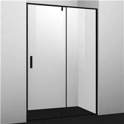 Душевая дверь 100 см WasserKRAFT Elbe 74P12, распашная, профиль черный