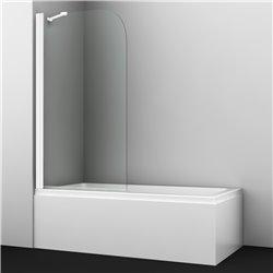 Шторка на ванну WasserKRAFT Leine 35P01-80 WHITE Fixed ширина 80 см, профиль белый