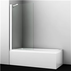 Шторка на ванну WasserKRAFT Berkel 48P01-80 WHITE Fixed ширина 80 см, профиль белый