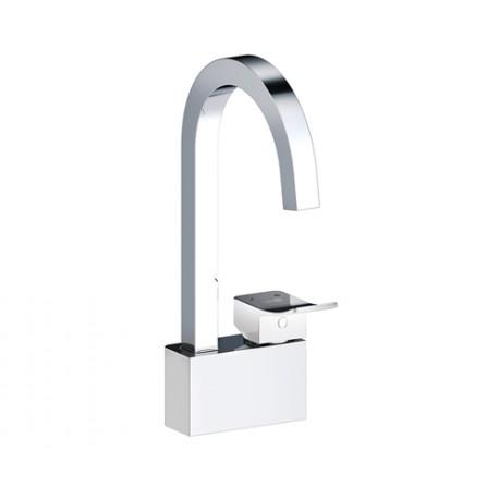 Смеситель Wasser KRAFT Aller 1067 White для кухни, цвет хром/белый